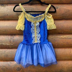 Blue Crushed Velvet Tutu Dance Costume